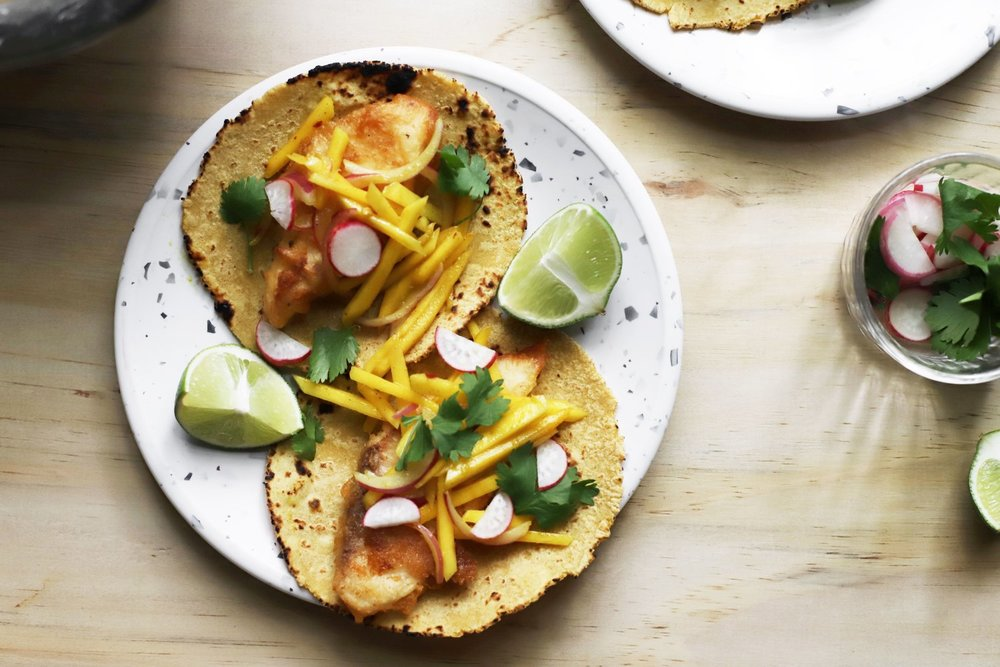 these delicious and simple  amba fish tacos  were inspired by another overly complicated taco idea that didn't really pan out as a recipe