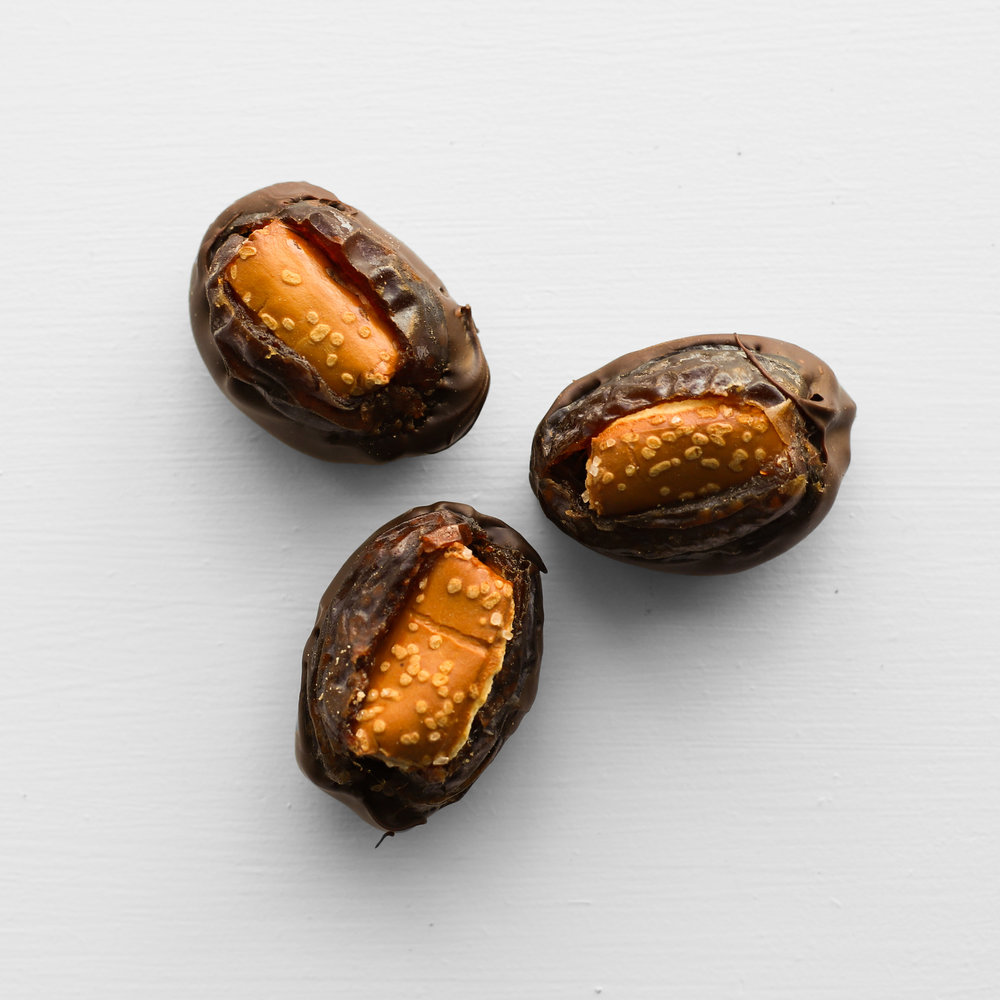 chocolate covered pretzel dates