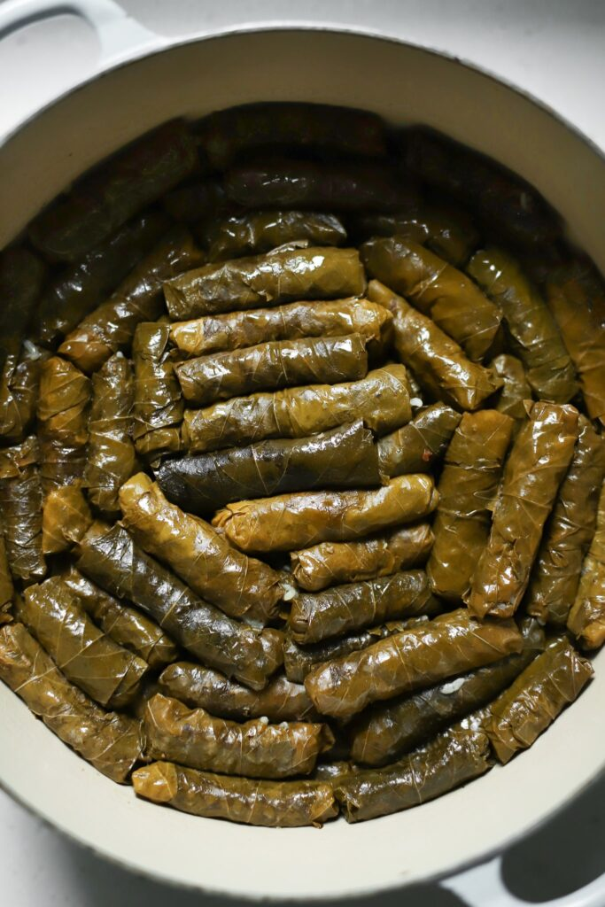 warak enab in a pot
